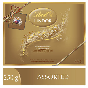 Lindt LINDOR Prestige Assorted Chocolate Truffles Gift Box, 250g