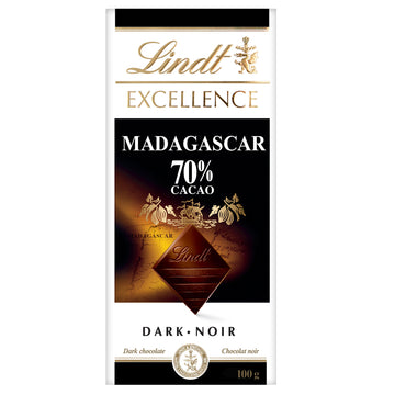 Lindt Excellence Madagascar 70% Cacao Dark Chocolate Bar 100g