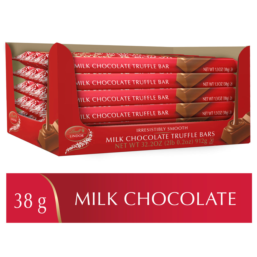 Lindt LINDOR Milk Chocolate Sticks Case (24x38g) 912g (Delivery Only)