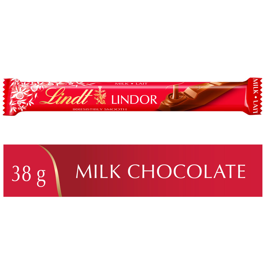 Lindt LINDOR Milk Chocolate Sticks Case (24x38g) 912g
