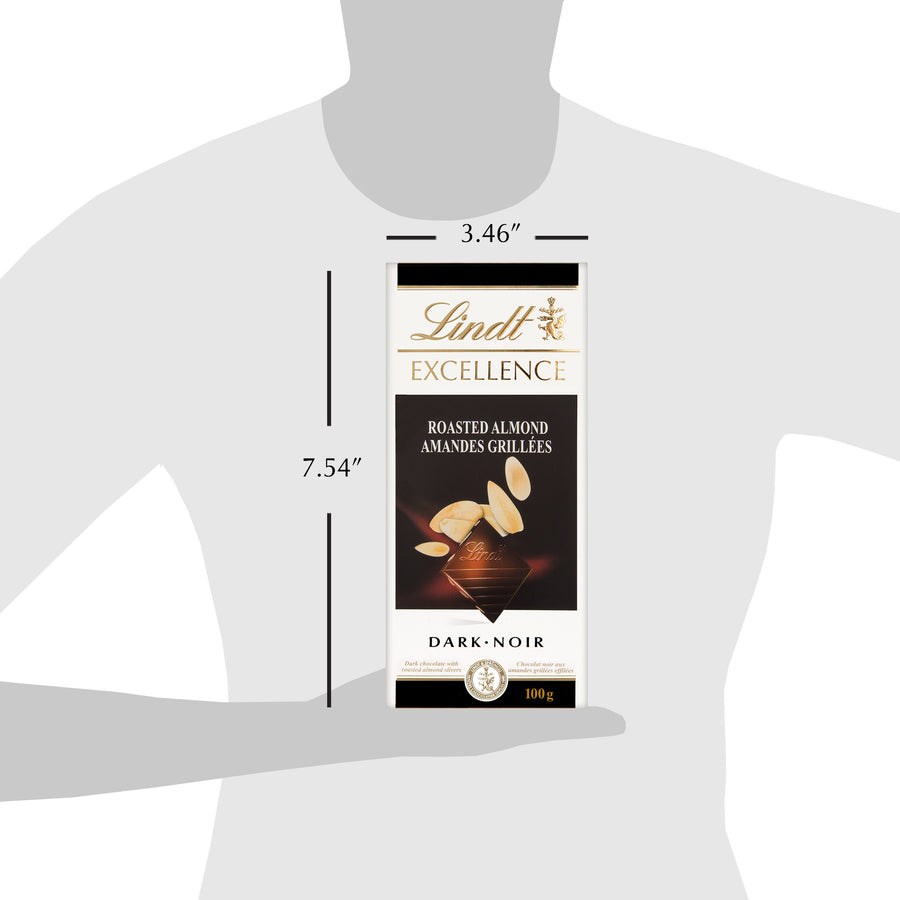 Lindt Excellence Roasted Almond Bar 100g