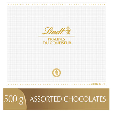 Lindt PRALINÉS DU CONFISEUR Assorted Chocolate Pralines Box 500g