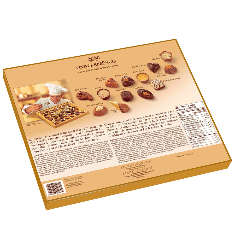 Lindt SWISS LUXURY SELECTION Assorted Pralines Box, 415g