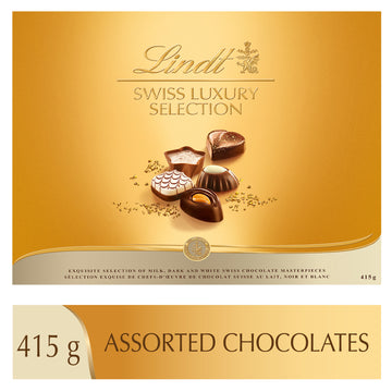 Pralinés assortis Swiss Luxury Selection de Lindt – Boîte 415 g