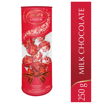 Lindt LINDOR Milk Chocolate Truffles Gift Tube 250g