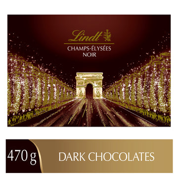 Lindt CHAMPS-ÉLYSÉES Assorted Dark Chocolate Box 470g