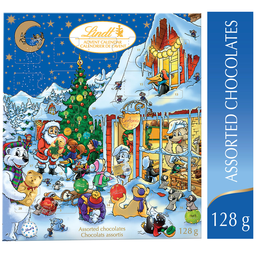 Lindt Kids Christmas Assorted Milk Chocolate Advent Calendar 128g