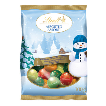 Lindt Holiday Magic Assorted Milk Chocolate Mini Balls Bag 100g