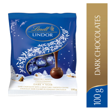Lindt LINDOR Dark Chocolate Mini Balls Bag 100g