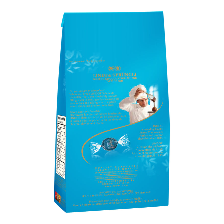 LINDOR Milk Chocolate & Sea Salt Truffles Bag, 150g