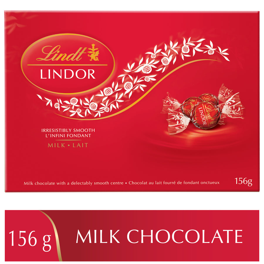 Lindt LINDOR Milk Chocolate Truffles Box,156g (Delivery Only)