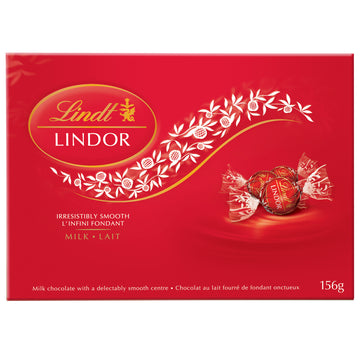 Lindt LINDOR Milk Chocolate Truffles Box,156g