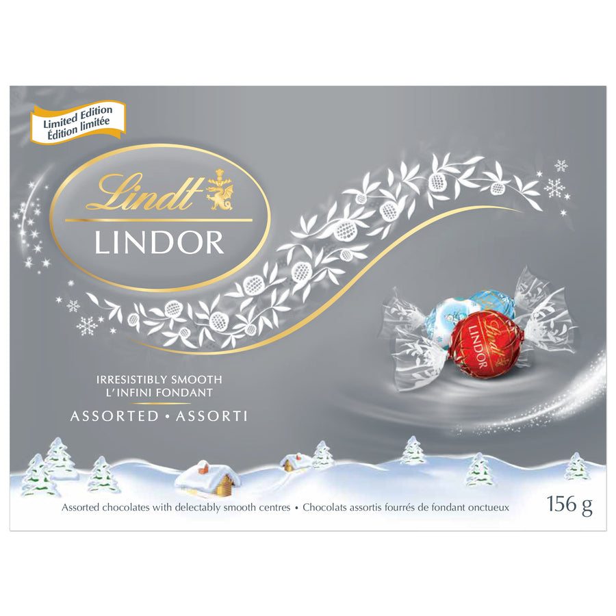 Lindt LINDOR Limited Edition Assorted Chocolate Truffles Box 156g