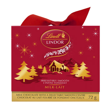 Lindt LINDOR Winter Bliss Milk Chocolate Truffles Mini Present Box 72g
