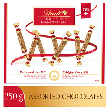 Lindt BATONS KIRSCH Assorted Chocolates Box 250g