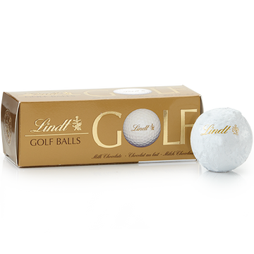 Lindt Milk Chocolate Golf Balls, 3-Pack 110g
