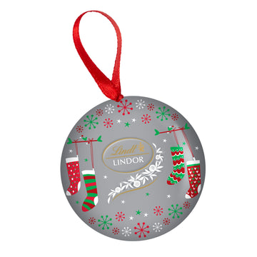 Lindt LINDOR Assorted Chocolate Truffles Ornament Tin 48g