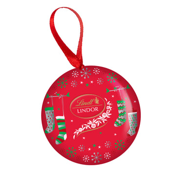 Lindt LINDOR Milk Chocolate Truffles Ornament Tin 48g