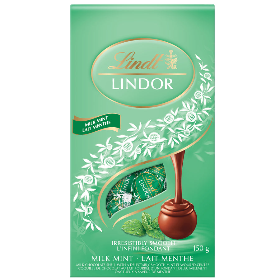 Lindt LINDOR Milk Chocolate Mint Truffle Bag 150g