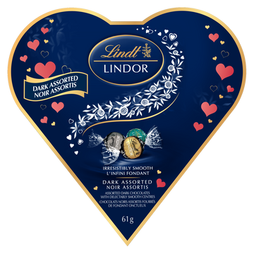 Lindt LINDOR Assorted Dark Chocolate Truffles Box 61g (Delivery Only)