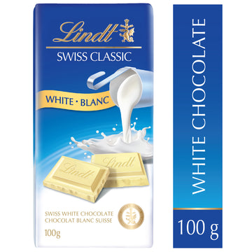 Lindt SWISS CLASSIC White Chocolate 100g Bar