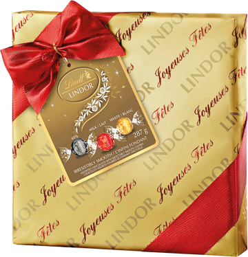Lindt LINDOR Assorted Chocolate Truffles Christmas Gift Box 287g (Store Pick-up Only)