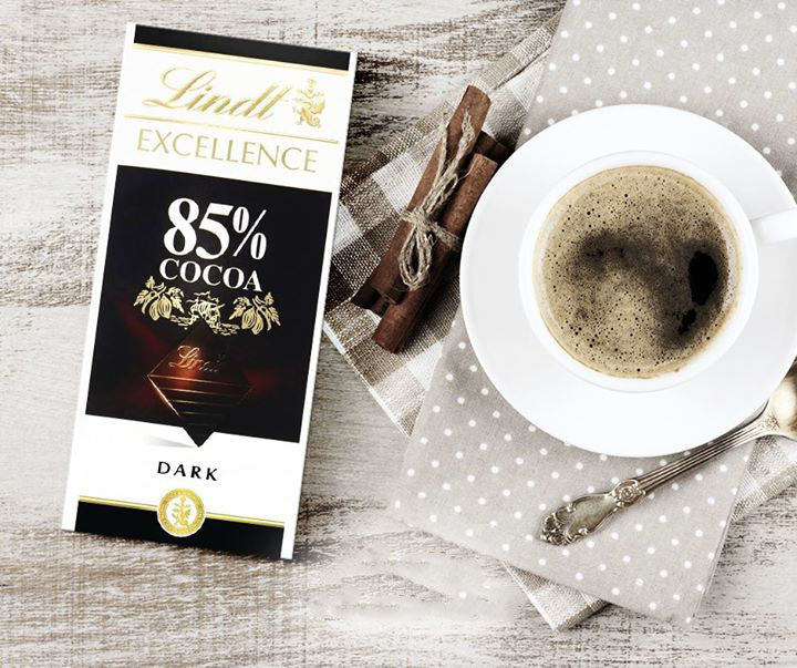 Lindt Excellence 85% Cacao Dark Chocolate Bar 100g