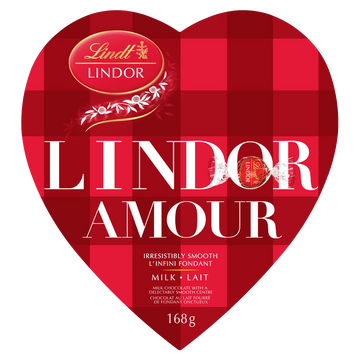 Lindt LINDOR AMOUR Milk Chocolate Truffles Box 168g (Delivery Only)