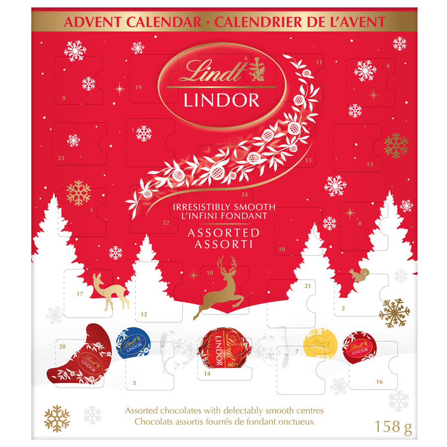Lindt LINDOR Assorted Chocolate Advent Calendar 158g