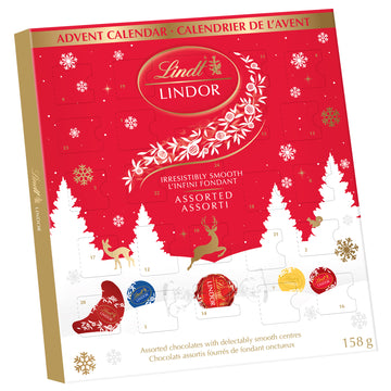 Lindt LINDOR Assorted Chocolate Advent Calendar 158g (BOGO and Delivery Only)