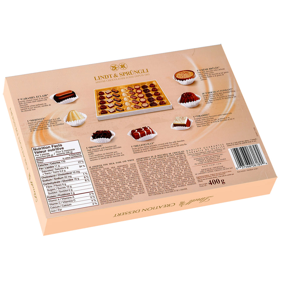Lindt CREATION DESSERT Assorted Chocolate Box 400g