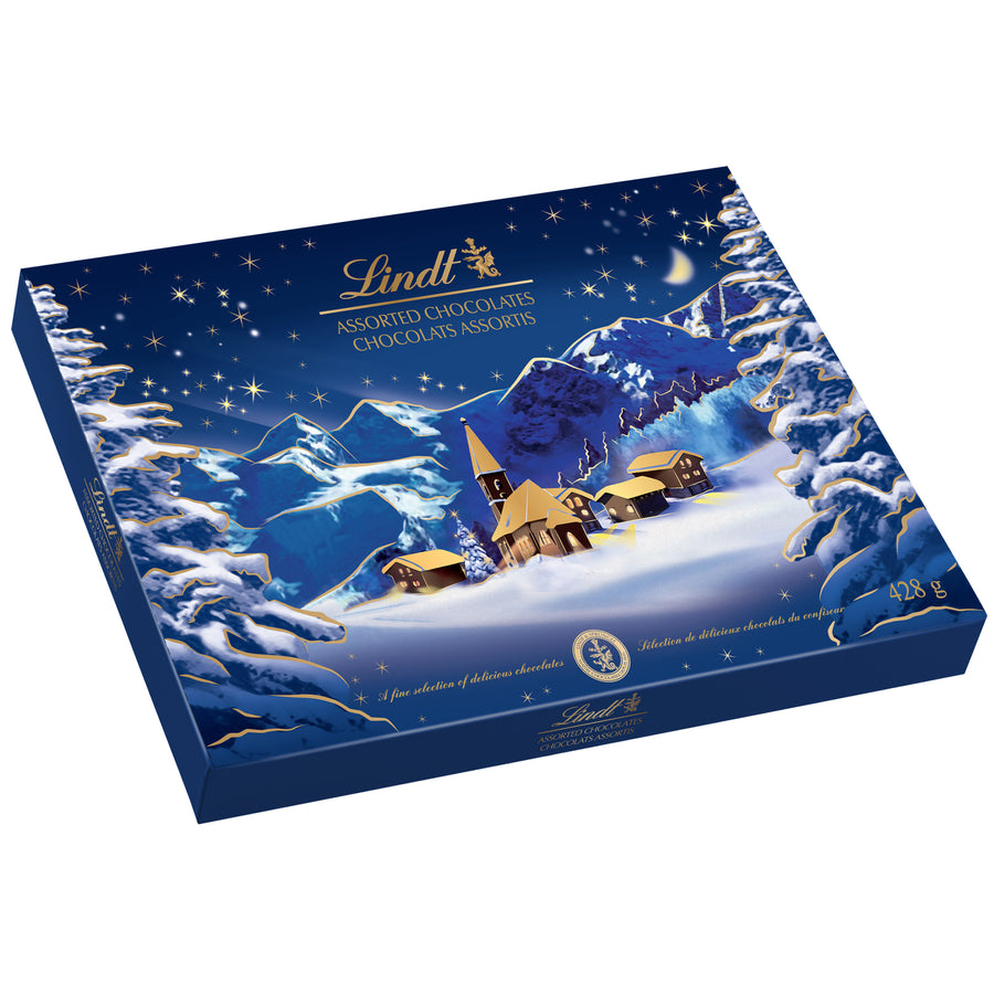 Lindt Alpine Christmas Village Assorted Chocolate Box 469g