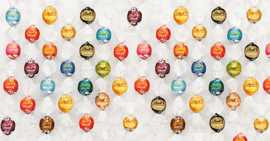 Lindt LINDOR Assorted Chocolate Truffles Bag, 150g