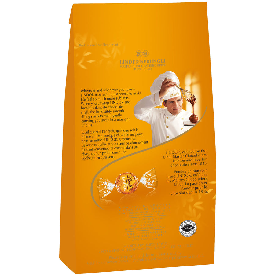 Lindt LINDOR Milk Chocolate Caramel Truffles Bag, 150g