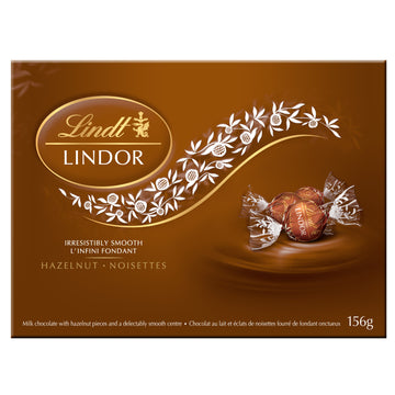 Lindt LINDOR Hazelnut Milk Chocolate Truffles Box 156g