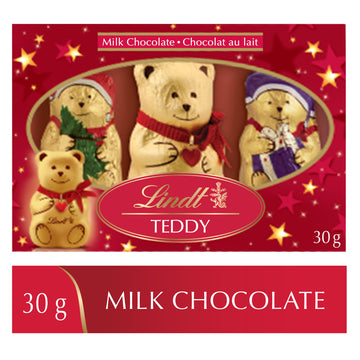 Chocolats au lait Lindt TEDDY AND FRIENDS – Emballage familial (30 g)
