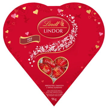 Lindt LINDOR Friendship Heart Milk Chocolate Truffles Box 96g