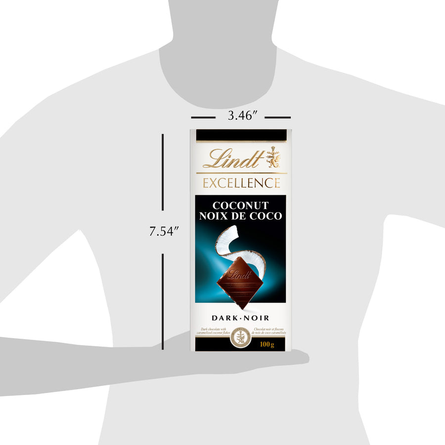 Lindt Excellence Coconut Dark Chocolate Bar 100g