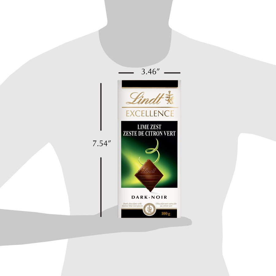 Lindt Excellence Lime Zest Dark Chocolate Bar 100g