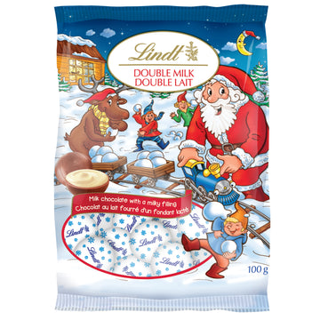Lindt Holiday Magic Double Milk Chocolate Mini Balls Bag 100g