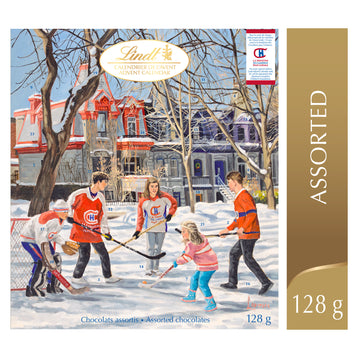 Lindt Assorted Chocolate Montreal Canadiens Advent Calendar 128g
