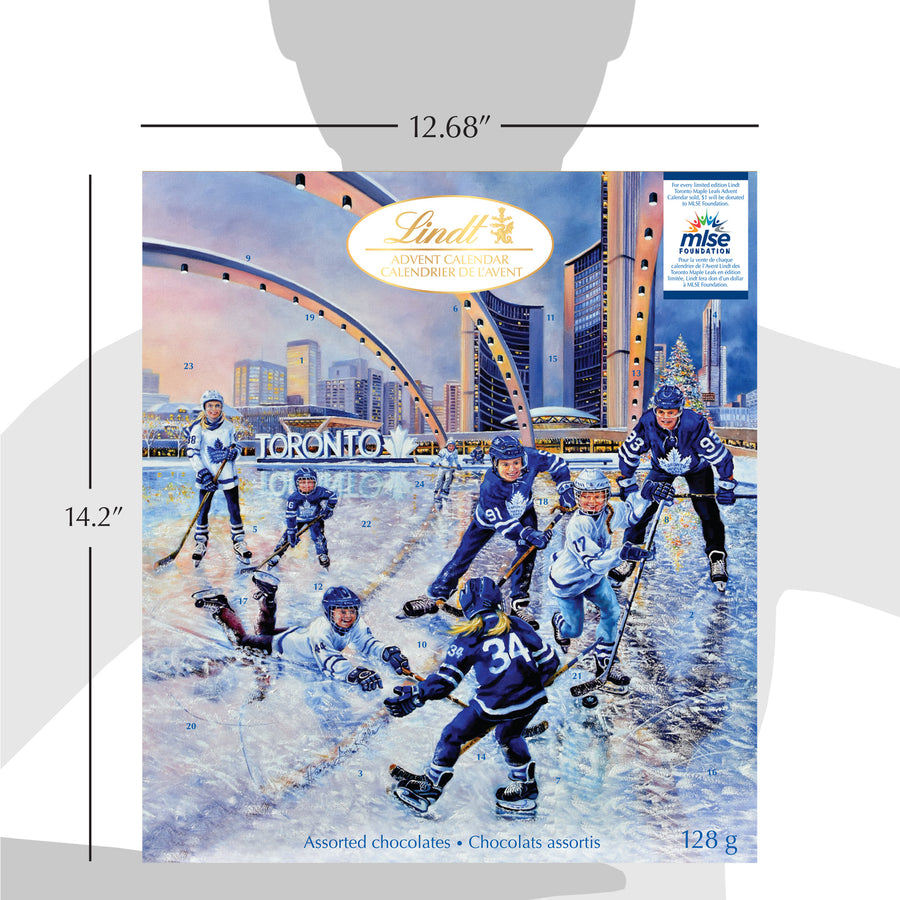 Lindt Assorted Chocolate Maple Leafs Advent Calendar 128g