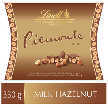 Lindt Piemonte MAITRE CHOCOLATIER Hazelnut Milk Chocolate Box 330g (Delivery Only)