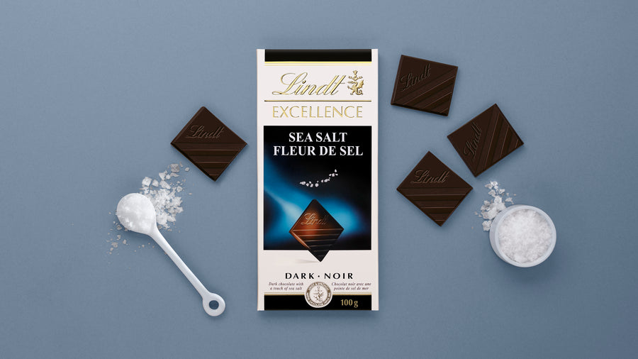 Lindt Excellence Sea Salt Dark Chocolate Bar 100g