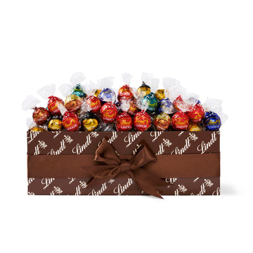 Lindt LINDOR Assorted Chocolate Truffles Box, 182 Count, 2262g (Pre-Order & Delivery Only)