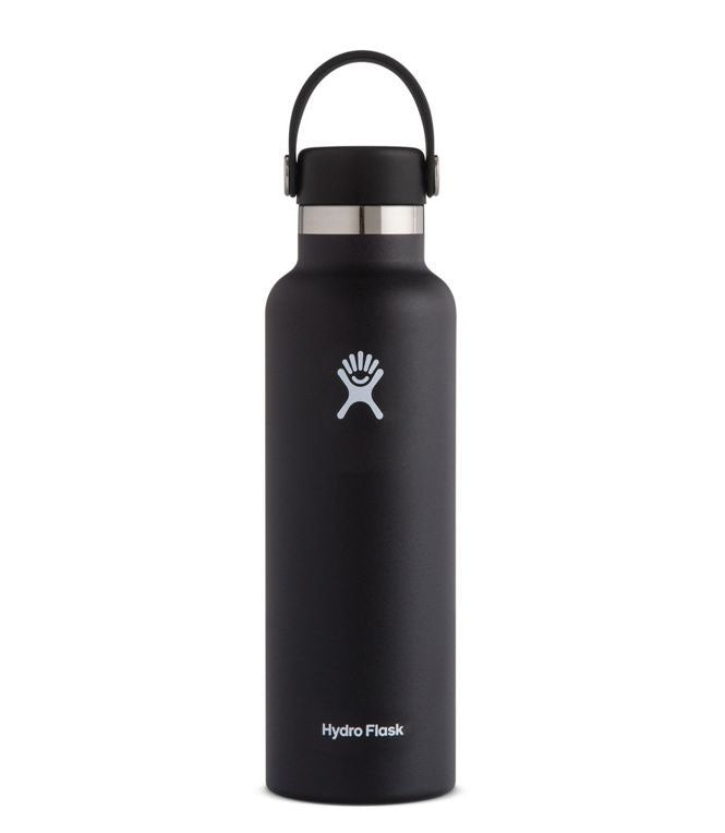 Hydro Flask 21Oz Standard W/ Flex Cap - BLACK