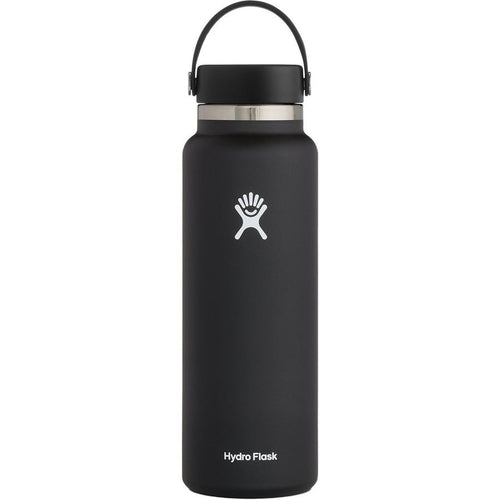 Hydro Flask 40Oz Wide Mouth 2.0 Flex Cap - BLACK