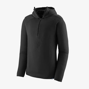 Patagonia Men's Capilene Thermal Weight Zip Neck Hoody - BLACK