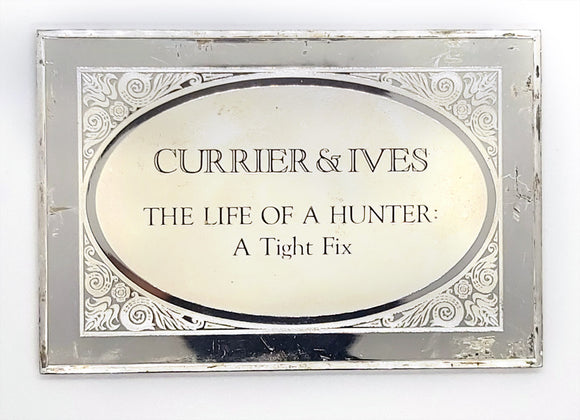 Currier & Ives - THE LIFE OF A HUNTER: A Tight Fix - 3 oz Bar