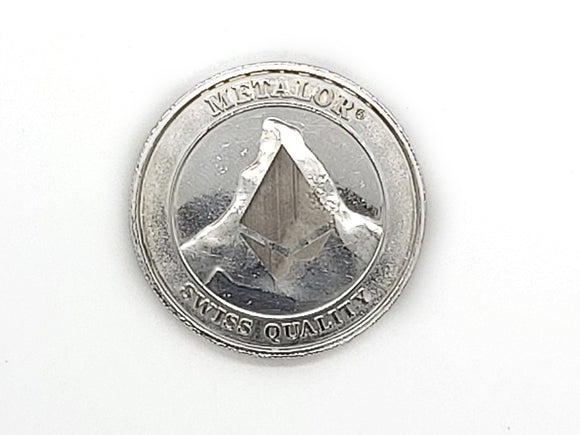 Metalor Coin - Laser Engraved - Participate in Immutable Transparency - ETHEREUM logo opposite side - 1 oz